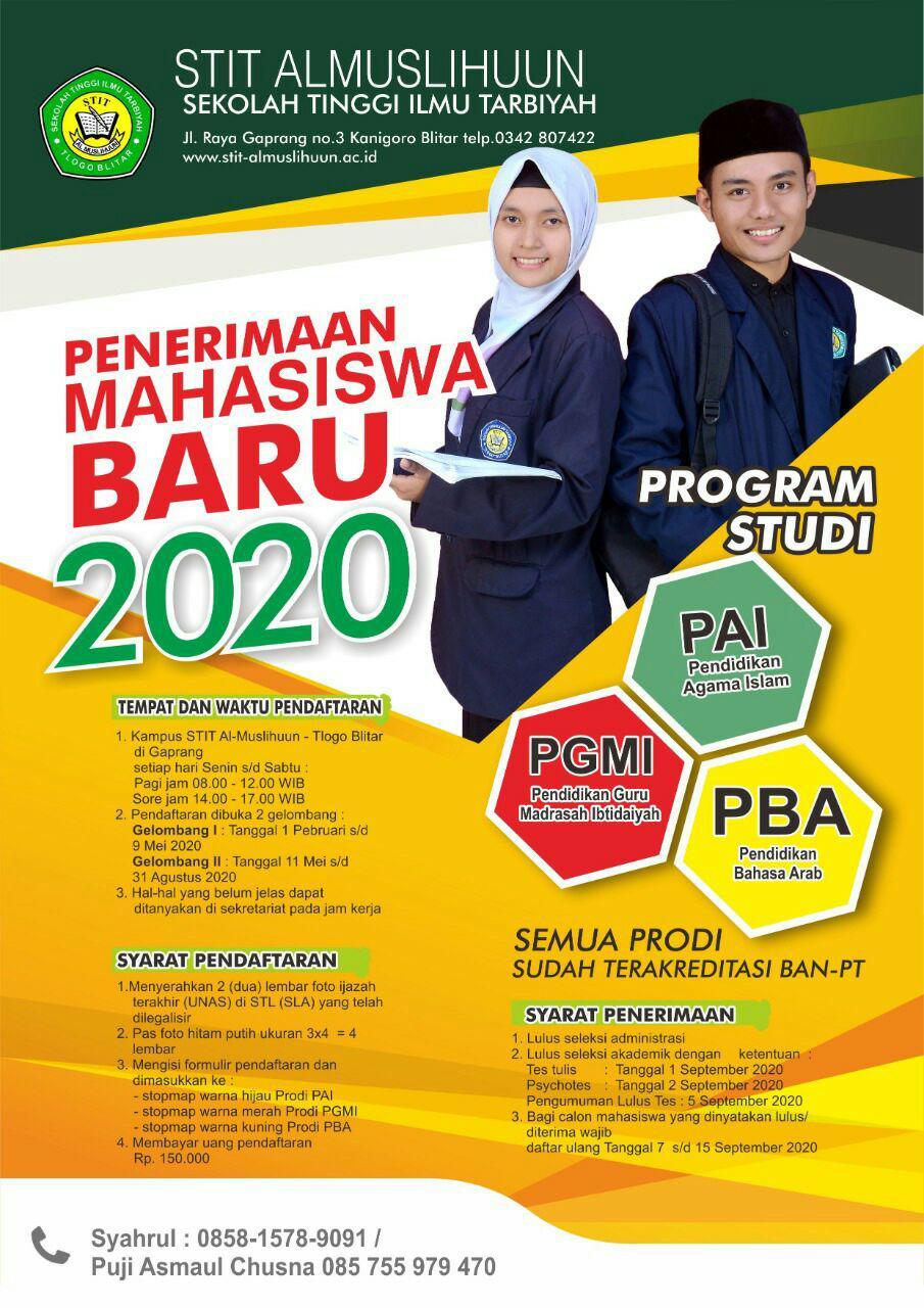PENDAFTARAN MAHASISWA JALUR REGULER  TAHUN 2020/2021